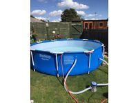 10ft steel frame swimming pool