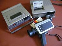 NEC Betamax Video Recorder and Camera