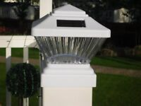"SOLAR DECKING POST LIGHT , WILL FIT A 4"" POST , IDEAL FOR STATIC CARAVANS"