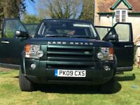 2009 Landrover discovery 3 TDV6 auto 7 seater full black leather green