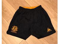 Boys navy football shorts small boys 8-10 yrs everton