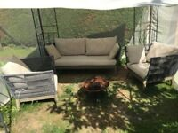 Stylish garden furniture, Sofa and two armchairs