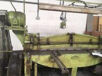 Sheet metal Guillotine cuts up to 3mm mild steel sheet