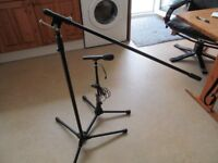 Audio Technica ATR25 microphone and two stands