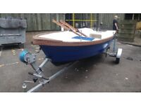 12 Foot Fibreglass Boat with Trailer