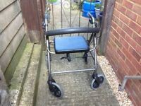 Mobility walker 4 wheeled folding mobility walker lightweight