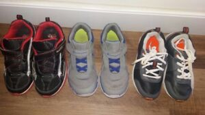 3 PAIRS TODDLER SHOES, size 11.5