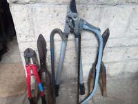 Six Assorted Workshop and Garden Tools