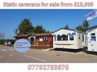 Static caravans for sale from £13,995 Norfolk Broads Nr Gorleston Beach Nr Great Yarmouth Nr Suffolk