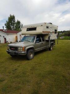 2000 gmc 2500 diesel with camper