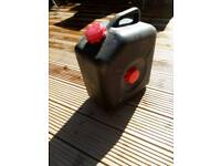 Waste water container camping
