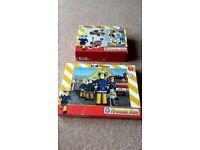 Various Jigsaw puzzles Paw Patrol, Fireman Sam, Big hero 6,