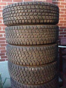 "13"" Bridgestone winters on 4x100 black rims $80 Firm"