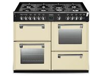 (Cost over £1300 new)Stoves Richmond 1100 wide cream gas range oven as new condition
