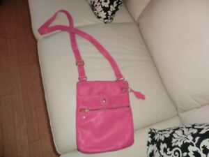 Hot Pink ROOTS Crossbody Purse