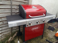 Outback 3 burner gas barbecue with cover (never used)