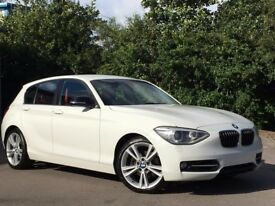 BMW 120d sport, M Red leather seats, pro media nav