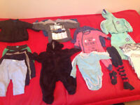 Used baby boy clothes bundle 3-6mnths