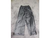 Regatta Boys Black Waterproof Trousers age 7/8 years