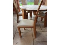 Barker and Stonehouse - Solid Oak Dining Table & Chairs. Only £400!
