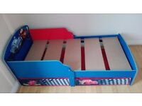 Toddler Cars Character bed with two drowers