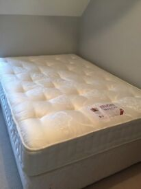 Double Divan Base and Matress in excellent condition