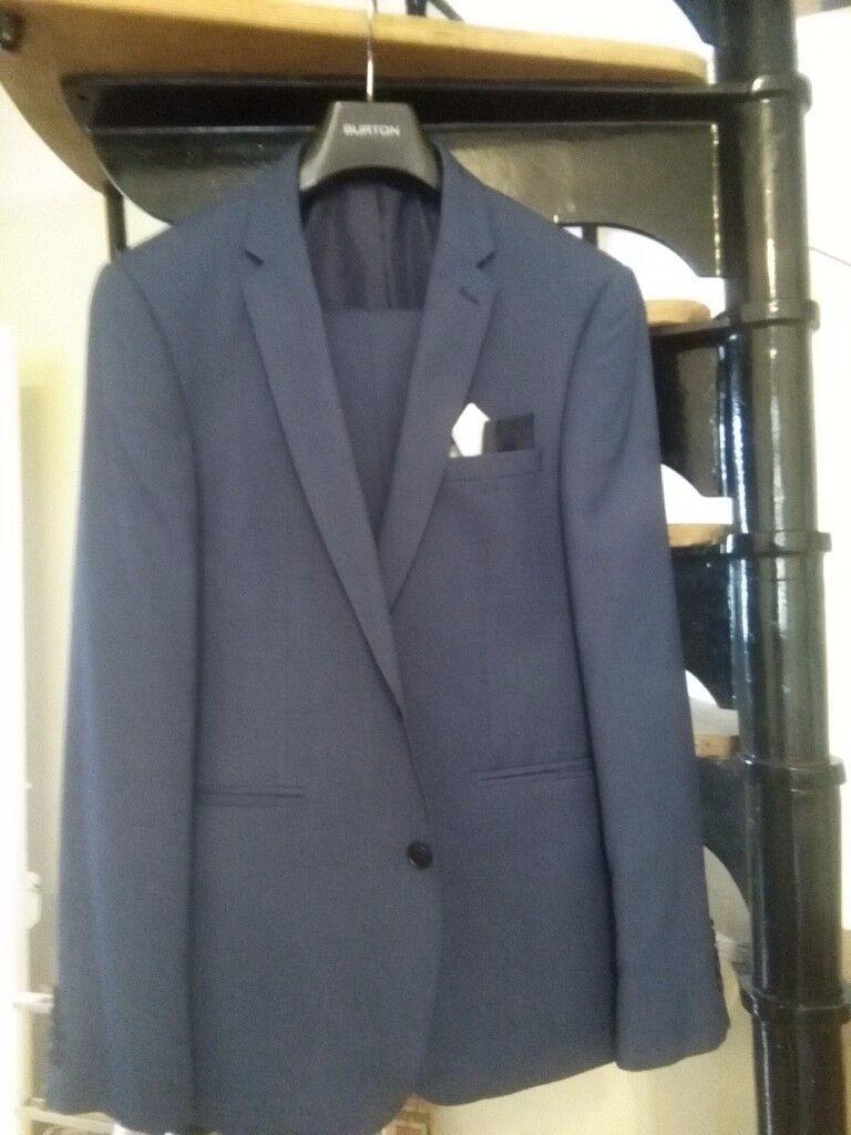 Men's Blue Burton 2 Piece Suit 40R / 34S