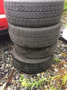 Bf Goodrich winter solum winter tires 205/55r16 on rims