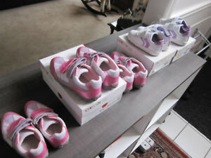 Geox,Girls Shoes 9 & 10 (white/lilac)10,13 & 1 (pink) BN,REDUCED
