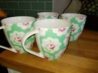 Four Cath Kidston mugs