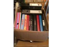 Job lot of Lever arch files and ring binders