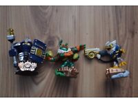 Skylanders superchargers figures High Volt,Thrillipede ,Jet Vac
