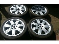 GENUINE 19 L322 RANGEROVER VW T5 TRANSPORTER ALLOY WHEELS 245 40 19 DUNLOPS