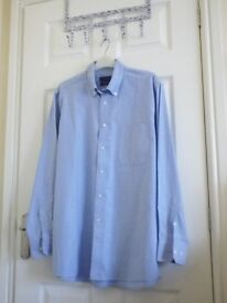 Mens 16.5 shirt, blue