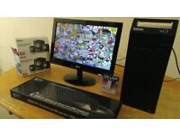 Lenovo Business Home Student PC Desktop Tower & LG 19 Widescreen LCD & 2.1