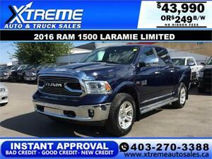 2016 Ram 1500 Laramie Limited *INSTANT APPROVAL* $0 DOWN $249/BW