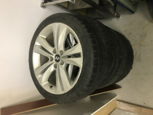 """18"""" tires and rims for a Hyundai"""