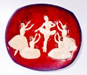 c.1958 BOSSONS Decorator Plate Wall BALLET ART Antique Vintage