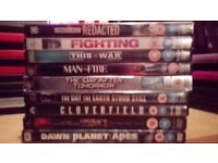 9 Action films, Assorted £5