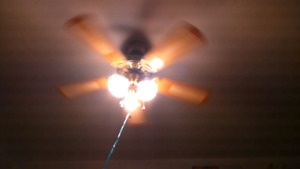 Ceiling fan/5 blades, 40$,negotiable