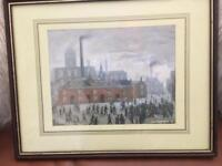 """Superb LS Lowry print """" the accident"""""""