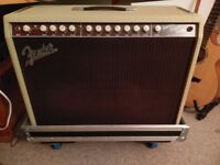 Fender Supersonic Twin 100 Combo Amp in Blonde With CustomBuilt Flight Case