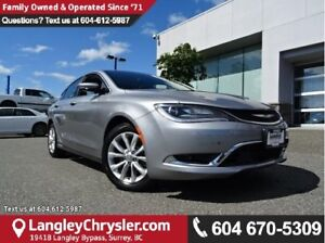 2015 Chrysler 200 C W/NAVIGATION, PANO SUNROOF & LEATHER INTE...