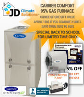 Promo New Carrier Furnace $4082 installed ( also repair&replace)