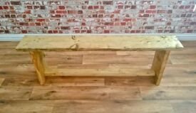 Eco Bench made from Rustic Reclaimed Wood in Antique Pine Finish