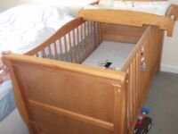 Mamas and Papas cot top changer and changing matt