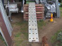 SINGLE (1 ONLY) TRAILER ETC 8FT RAMP H/DUTY GALVANISED STEEL BRACED..