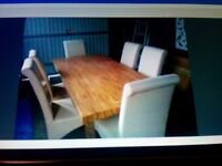 6' Marble Effect, 6 Place Table & Chairs