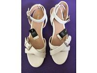 New Next White Sandals - Open to Offers