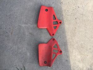 1985 cr 125 left and right rad plates